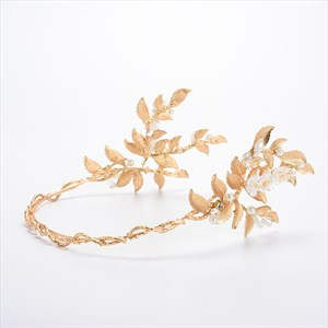 Beautiful Alloy Golden Leaf/Imitation Pearls Headbands