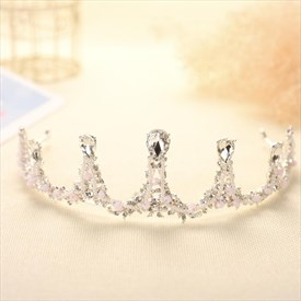Exquisite Alloy Imitation Pearls/Rhinestones Tiaras