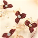 Elegant Alloy Faux Pearls/Fabric Flower Ribbon Headbands