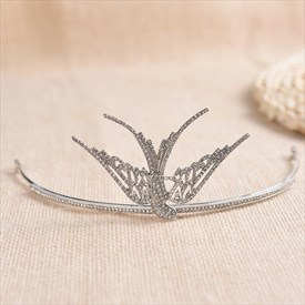 Elegant Alloy Rhinestone Single Bridal Tiaras