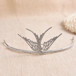 Elegant Alloy Rhinestone Single Bridal Tiaras