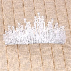 Chic Rhinestone Alloy Imitation Pearls Bridal Tiaras