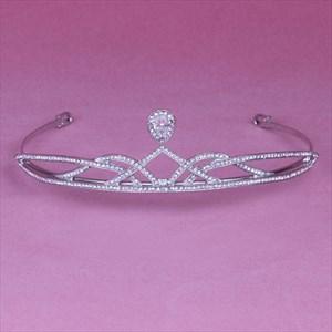 Classic Simple Rhinestone Alloy Bridal Tiaras