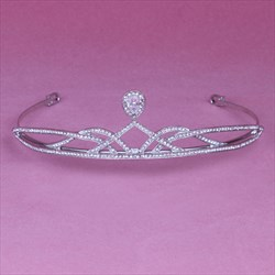 Classic Simple Rhinestone Alloy Bridal Tiaras