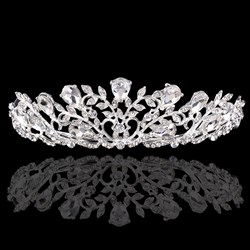 Gorgeous Alloy Leaf Imitation Crystal/Rhinestone Tiaras