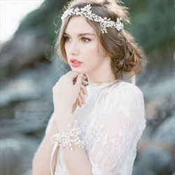 Elegant Imitation Pearls Rhinestone Ribbon Bridal Headbands