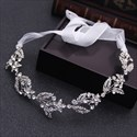 Exquisite Alloy Rhinestone Ribbon Bridal Headbands