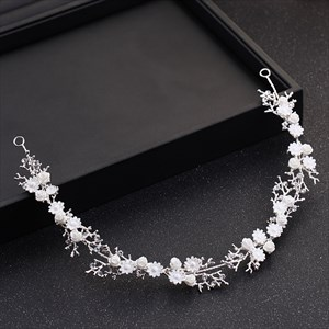 Elegant Alloy Rhinestone/Artificial Flower Bridal Headpieces