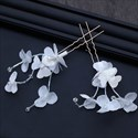 Chic Fabric Flower Bridal Comb & Hairpins (Set of 3 pieces)