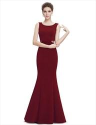 Elegant Sleeveless Mermaid Style Prom Dress With Beaded Waist