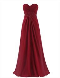 Elegant Floor Length Chiffon Prom Dress With Lace Embellishment