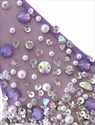 Lavender V Back Sleeveless Tulle Prom Dress With Beaded Bodice