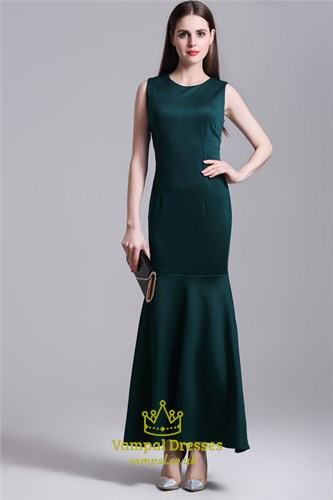 Simple Elegant Sleeveless Sheath Mermaid Drop Waist Maxi Dress