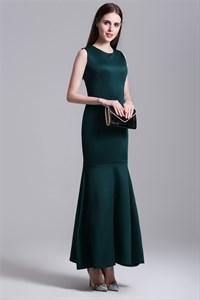 Simple Elegant Sleeveless Sheath Mermaid Drop Waist Maxi Dress