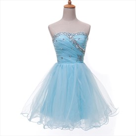 Lovely Sleeveless Beaded Neckline Knee Length Homecoming Dress