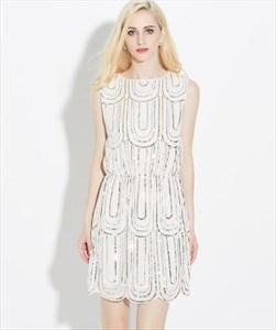 Luxurious Sleeveless Sequin Short Cocktail Dress