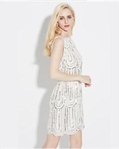 Luxurious Sleeveless Sequin Short Cocktail Dress