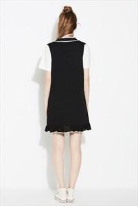 Women's Fashionable Sleeveless V-Neck Knitting Sundress