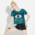 Women's Fashionable Short Sleeve Sequin Top