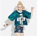 Women's Loose Fashionable Half Sleeve Sequin Top