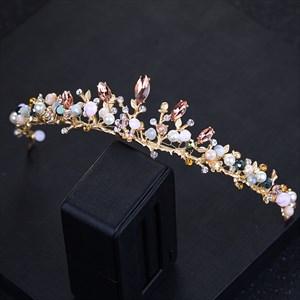 Exquisite Alloy Faux Pearl/Rhinestones Bridal Tiara