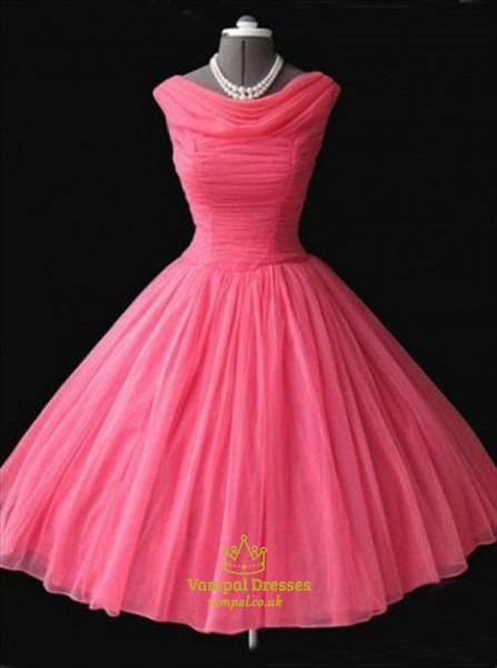hot pink knee length dress