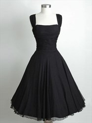 Black Sleeveless Square Neckline Ruched Bodice Short Homecoming Dress