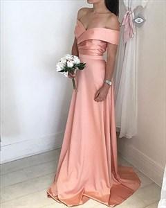 Elegant A Line Floor Length Off The Shoulder Embellished Evening Dress
