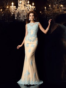 Elegant Floor Length Cap Sleeve Mermaid Prom Dress With Keyhole Back