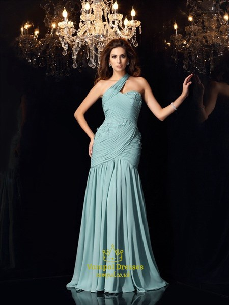 Floor Length Sweetheart Embellished Chiffon Evening Dress With Strap