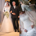 Elegant Off The Shoulder Long Sleeve Lace Embellished Wedding Dress