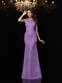 Elegant Mermaid Floor Length Lace Prom Dress With Illusion Neckline