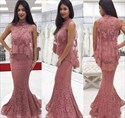 Trumpet/Mermaid Elegant Sleeveless Floor-Length Lace Formal Dress