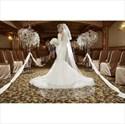 Long Sleeve Deep V-Neck Mermaid Lace Bodice Open Back Wedding Dress