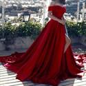 Off The Shoulder Lace Embellished Mermaid Evening Dress