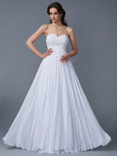 Sweetheart Neckline Sleeveless Beaded Pleated Chiffon Prom Dress