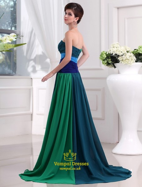 A Line Sweetheart Sleeveles Beading Ruched Floor Length Prom Dress