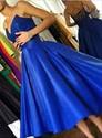 Elegant Royal Blue Sweetheart Criss Cross Back Ball Gown Short Dress