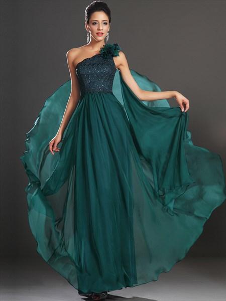 A Line Emerald Green Sleeveless Beaded Chiffon Prom Dress With Cape