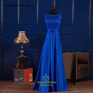 Chiffon Long Prom Dress With Beaded Cap Sleeves