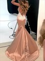 Deep V Neck Backless Spaghetti Strap Mermaid Lace Applique Prom Dress
