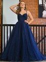 Royal Blue Ruched Bodice Sweetheart Spaghetti Strap Bridesmaid Dresses