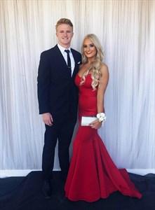 Red Mermaid Satin Strapless Sweetheart Floor Length Formal Prom Dress