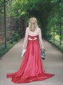 Burgundy Two Piece High Neck Halter Lace Applique Backless Prom Dress