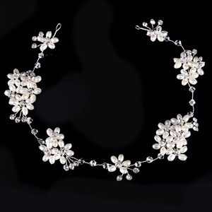 Pearl Handmade Headbands Crystal Rhinestone Headpieces Bridal Jewelry