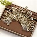 Amazing Alloy Beading Headpieces Rhinestone Headbands Bridal Jewelry