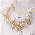 Chic Alloy Gold Headpieces Flower Rhinestone Headband Bridal Jewelry