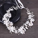 Handmade Flower Beading Headbands Alloy Rhinestone Bridal Headpieces