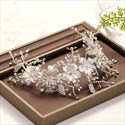 Alloy Handmade Headpieces Flowers Rhinestone Headband Bridal Jewelry