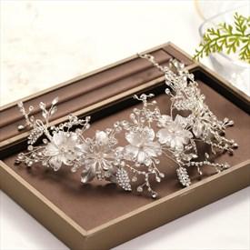 Alloy Handmade Headpieces Flowers Rhinestone Headband Bridal Jewelry